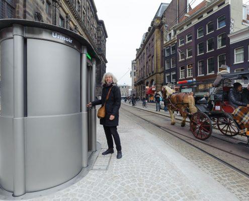 verzinkbaar urinoir vrouwen mannen Paleis op Dam Amsterdam