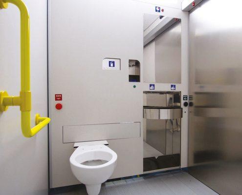 Half-automatisch openbaar toilet van Pop-up Toilet Company