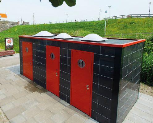 Semi – automatisch openbaar toilet van Pop-up Toilet Company