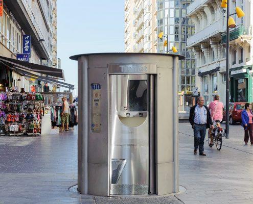 Verzinkbaar zelfreinigend toilet voor mannen en vrouwen
