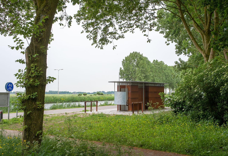 Openbaar toilet van Pop-Up Toilet Company in Alphen aan de Rijn