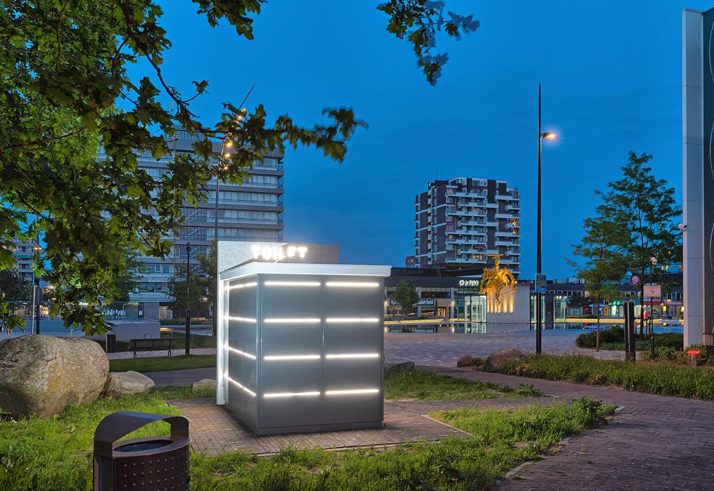 Openbaar toilet van Pop-Up Toilet Company in Emmen
