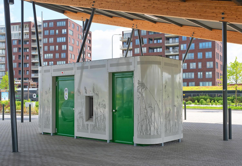 Openbaar toilet van Pop-Up Toilet Company in Groningen